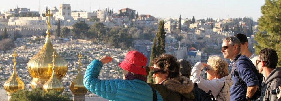 On the path of Mary Magdalene, church view from Mount Olives-Israel ©Rita Minassian