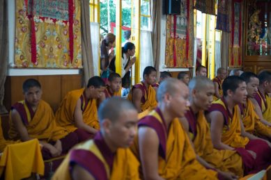 Teachings with the 14th Dalai Lama, Kalachakra temple-Dharamsala , Himalaya Rita Minassian