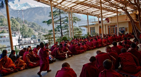 Teachings with the 14th Dalai Lama-Dharamsala, Himalayas ©Rita Minassian