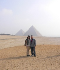 Rita Minassian & guide Anwar, initiatory travel, Spring Solstice-Egypt ©Rita Minassian