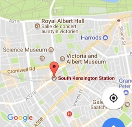 south kensington map London