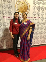 With Manjiri Nadkarni, President of the AAC (Ayurveda Association of Canada) at Ayurveda Food and Nutrition Conference Toronto - November 2018