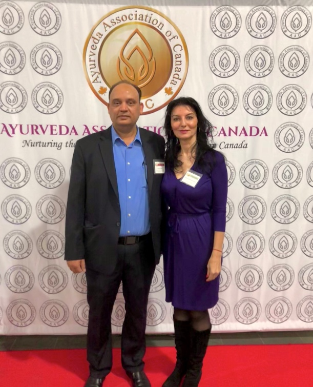With M.Paul Bhatt (Board of director of the AAC) - Ayurveda Food and Nutrition Conference Toronto - November 2018